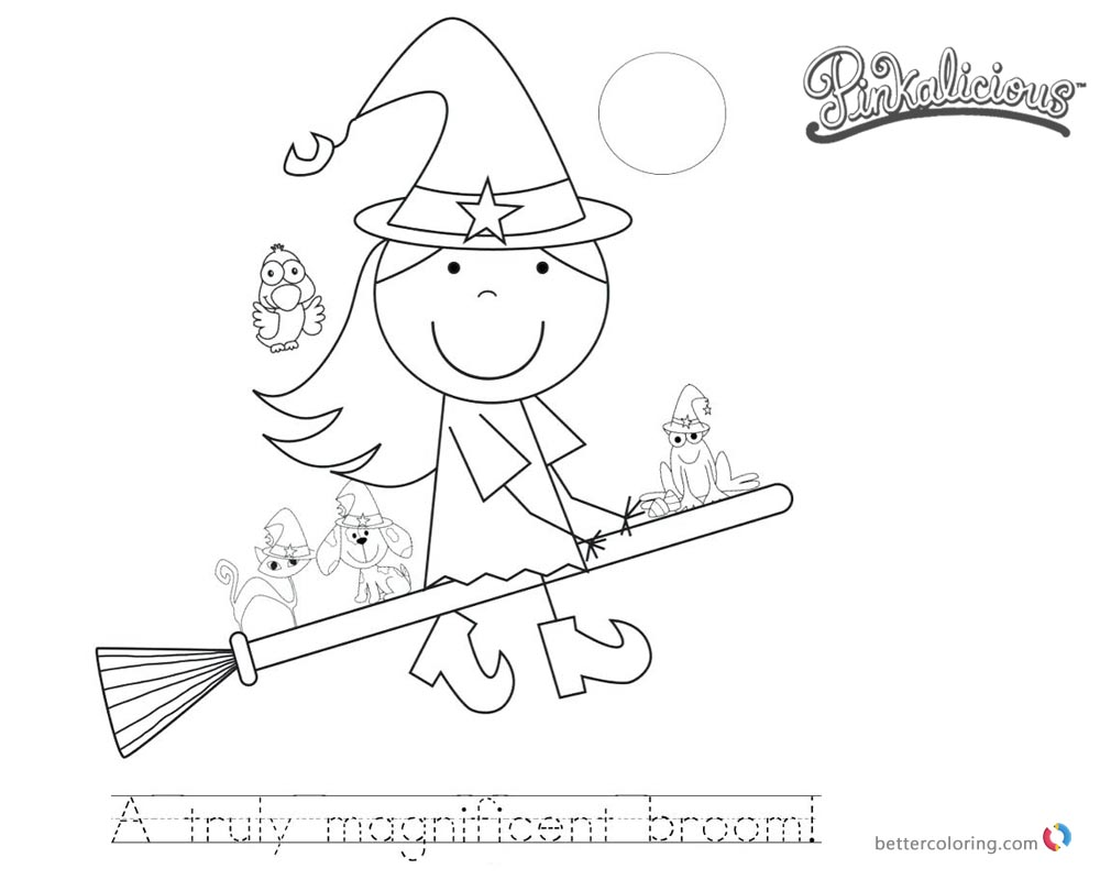 Pinkalicious Coloring Pages cartoon printable