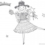 Pinkalicious Coloring Pages dancing drawing