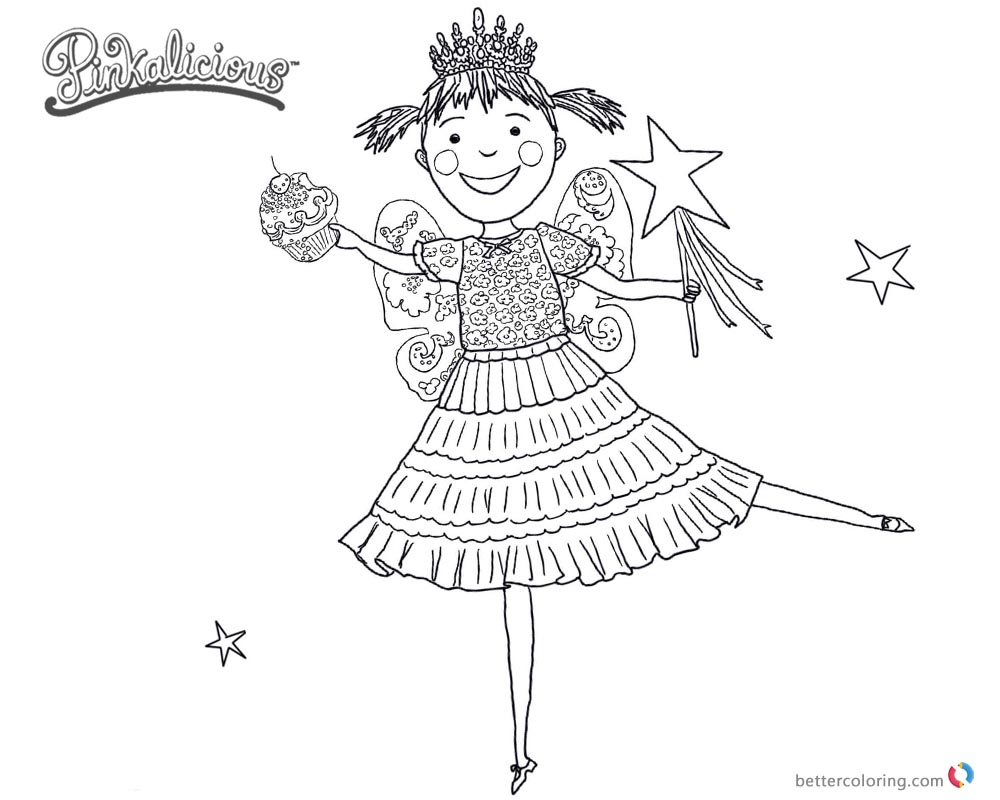 Pinkalicious Coloring Pages dancing drawing - Free Printable ...