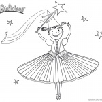 Pinkalicious Coloring Pages dancing time
