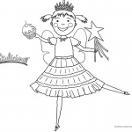 Pinkalicious Coloring Pages Dancing with Cupcake