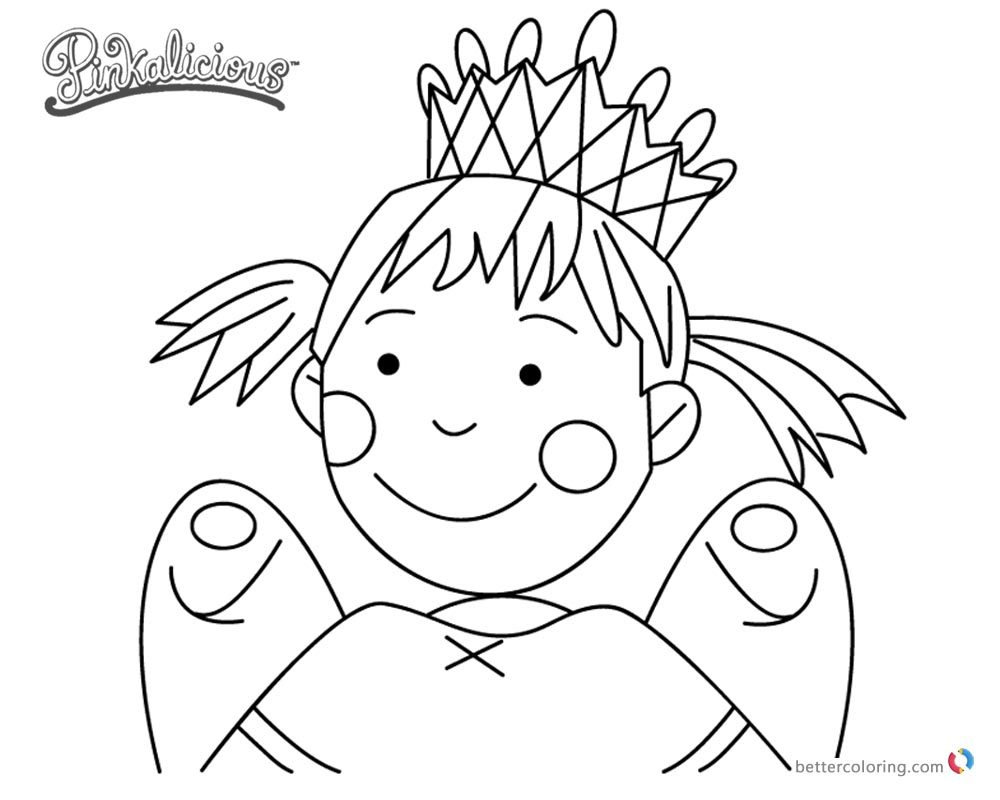 Pinkalicious Coloring Pages Fairy - Free Printable Coloring Pages