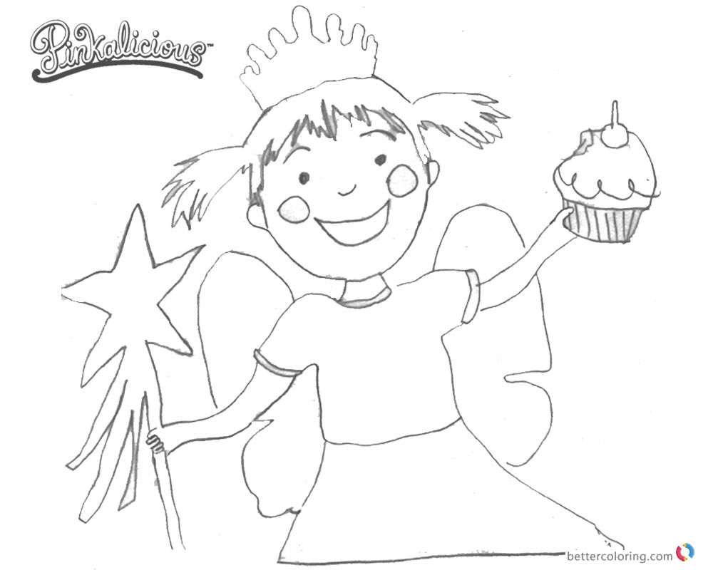 free pinkalicious coloring pages | Pinkalicious Coloring Pages Fanart Clipart - Free ...
