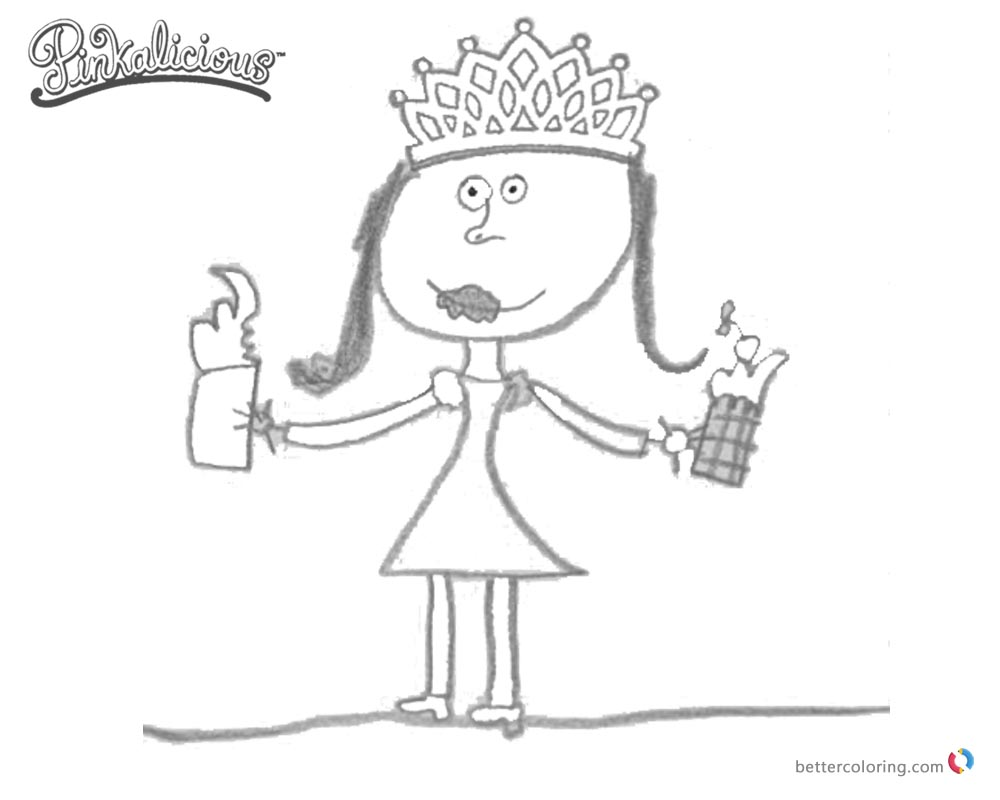 free pinkalicious coloring pages | Pinkalicious Coloring Pages Fanart - Free Printable ...