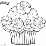 Pinkalicious Coloring Pages Flowers Cupcake