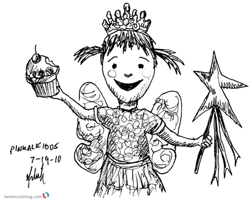 Pinkalicious Coloring Pages kids art printable