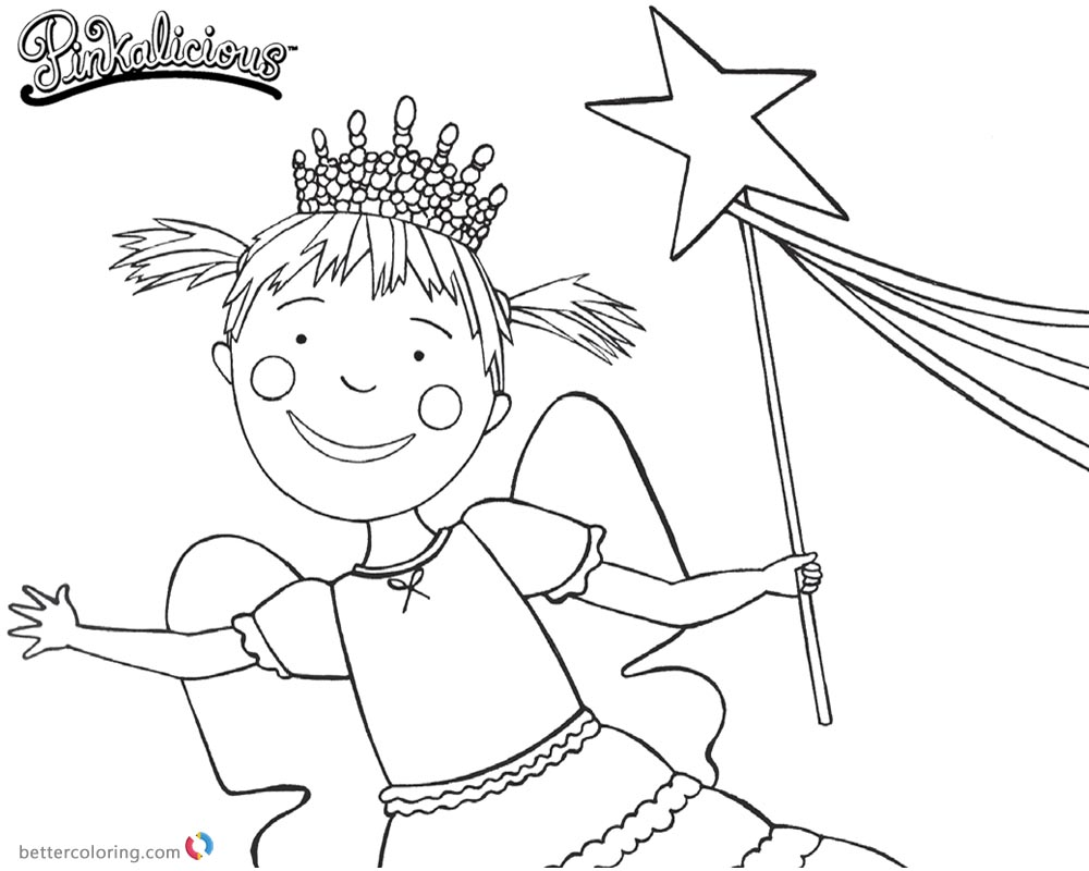 Pinkalicious Coloring Pages Lineart - Free Printable Coloring Pages