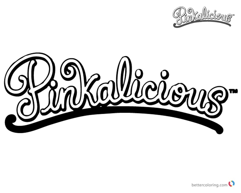 Pinkalicious Coloring Pages Logo printable