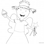 Pinkalicious Coloring Pages nancy fairies