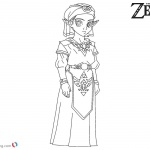 Princess Zelda Coloring Pages Black and White