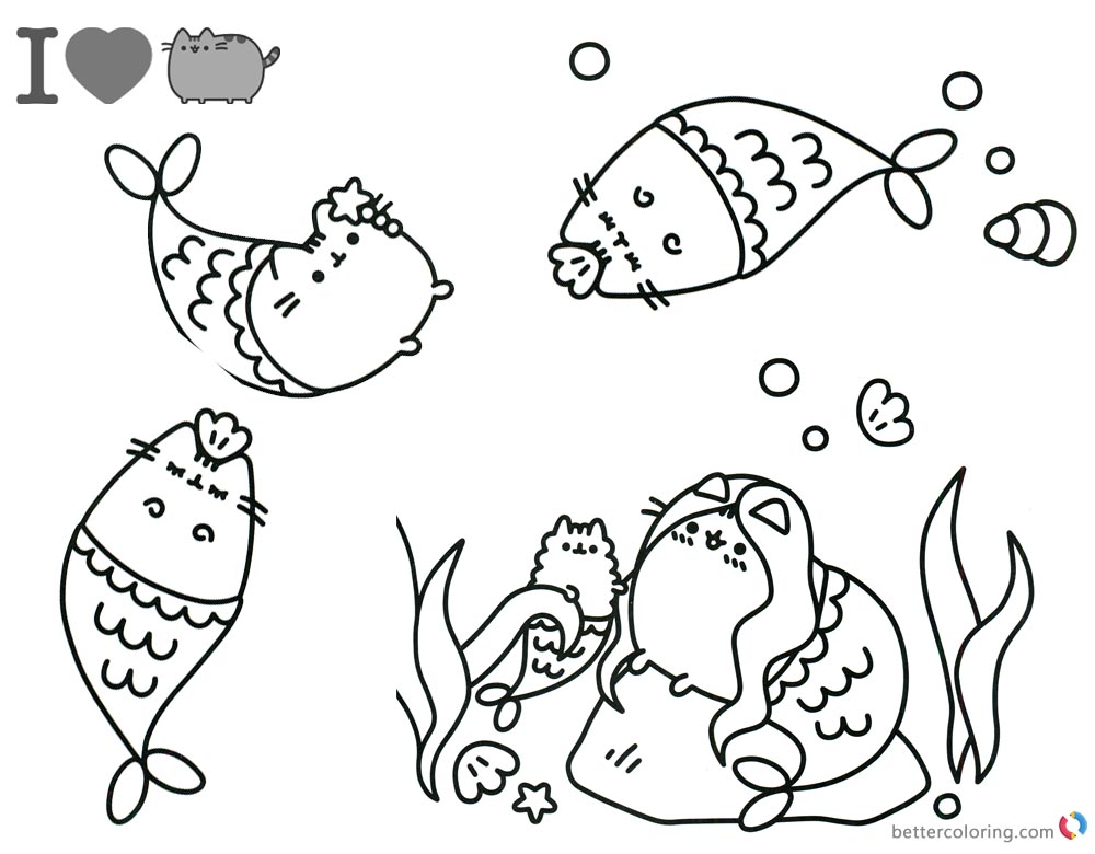 Pusheen Coloring Pages Beautiful