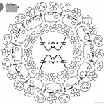 Pusheen Coloring Pages Coloring Book Cover