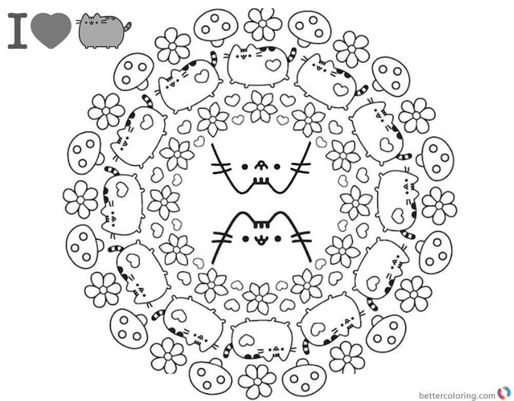 Pusheen Coloring Pages Coloring Book Cover printable and free