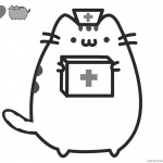 Pusheen Coloring Pages Doctor Cosplay