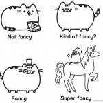 Pusheen Coloring Pages Guide to Being Fancy