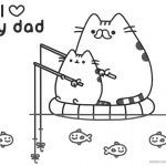 Pusheen Coloring Pages I Love My Dad