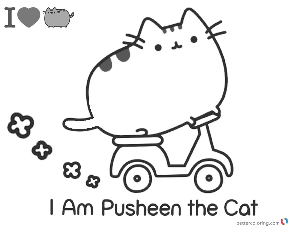 Pusheen Coloring Pages I'm Pusheen the Cat printable and free