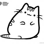 Pusheen Coloring Pages Little Cute Pusheen