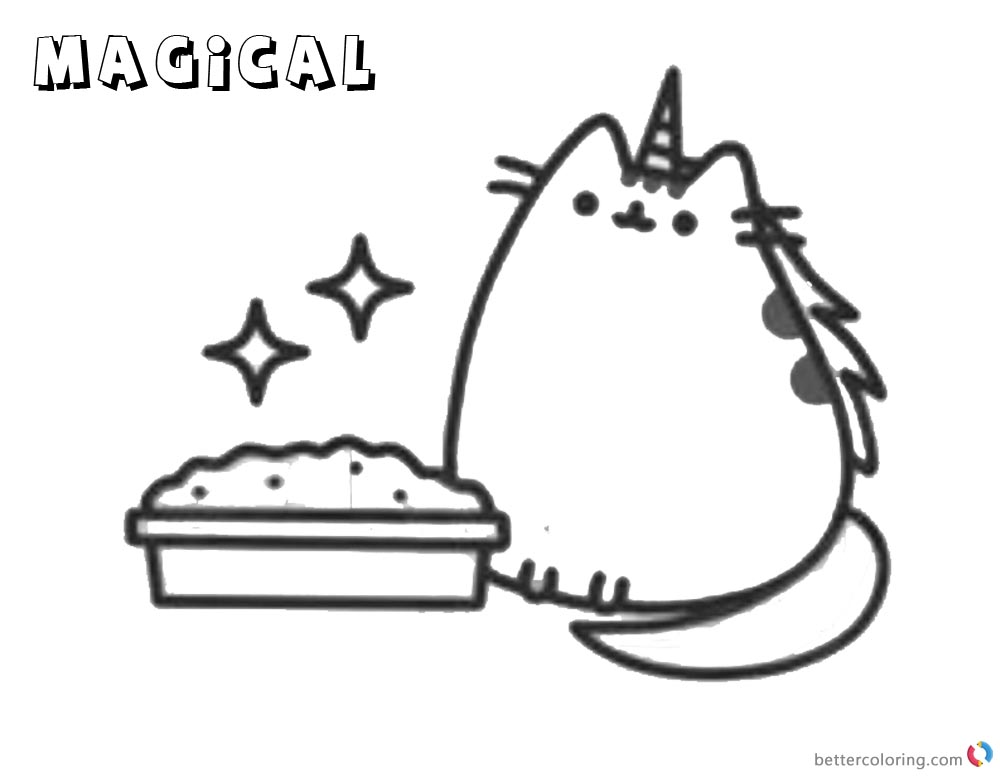 Pusheen Coloring Pages Magical