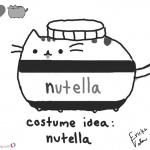 Pusheen Coloring Pages Nutella Idea