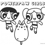 Pusheen Coloring Pages Powerpaw Girls