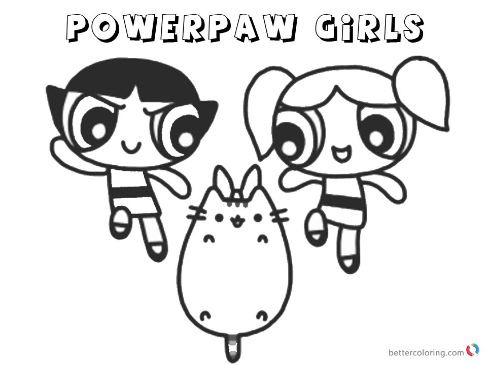Pusheen Coloring Pages Powerpaw Girls - Free Printable Coloring Pages