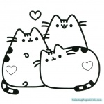 Pusheen Coloring Pages Pusheen with Heart Symbol