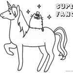 Pusheen Coloring Pages Super Fancy Unicorn