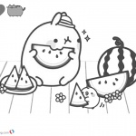 Pusheen Coloring Pages Watermelon