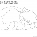 Realistic Red Panda Coloring Pages Sleeping