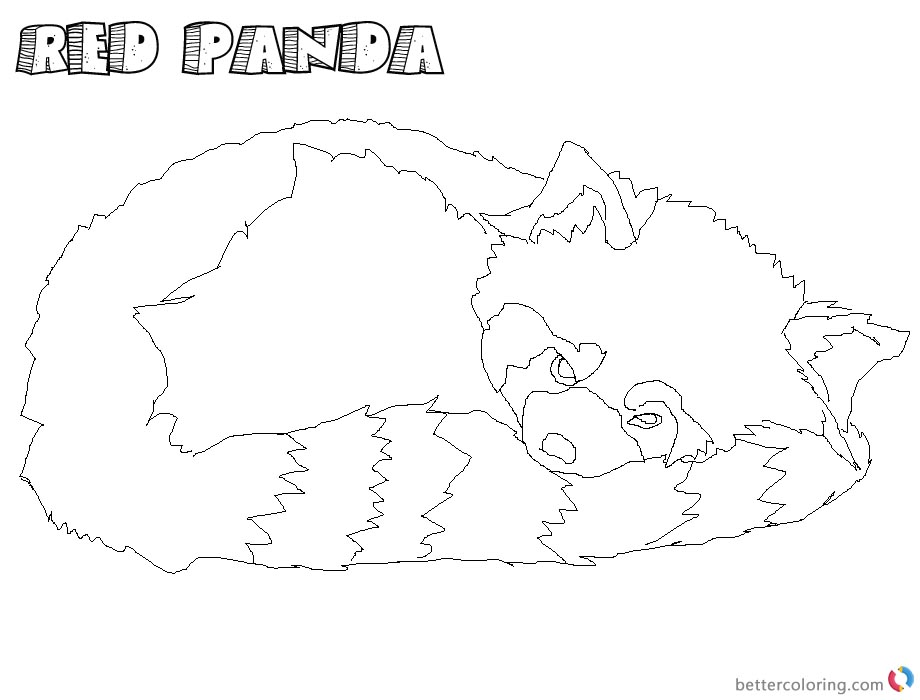 Realistic Red Panda Coloring Pages Sleeping - Free ...