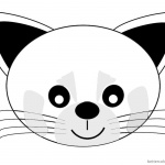 Red Panda Coloring Pages Cartoon Head Sticker