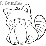 Red Panda Coloring Pages Cartoon Line Art Drawing