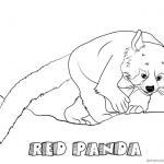 Red Panda Coloring Pages Climbing