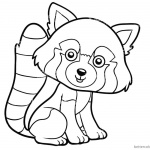 Red Panda Coloring Pages Clipart