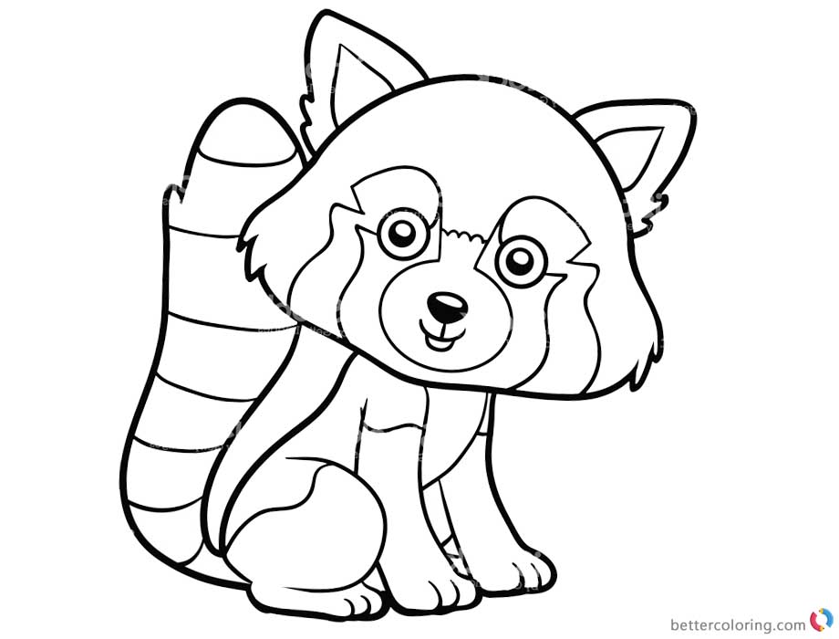 red panda cute coloring pages - photo#23