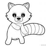 Red Panda Coloring Pages Cute Cartoon Coloring Sheet