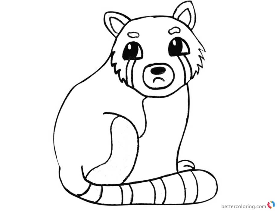 Red Panda Coloring Pages Hand Drawing