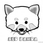 Red Panda Coloring Pages Head Clip Art