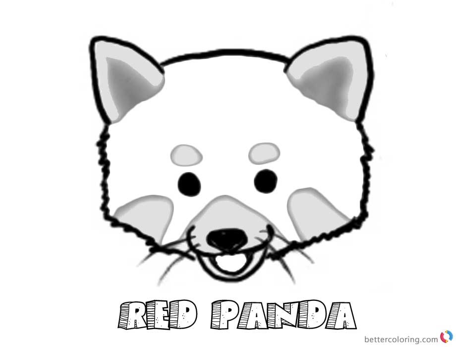 Red Panda Coloring Pages Head Clip Art Free Printable Coloring Pages