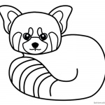 Red Panda Coloring Pages Line Art