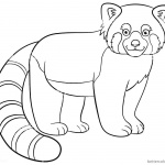Red Panda Coloring Pages Lineart Black and White