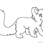 free Red Panda Coloring Pages Lineart big tail