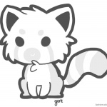Red Panda Coloring Pages Little Cartoon Red Panda