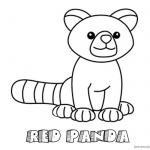 Red Panda Coloring Pages Simple Lline