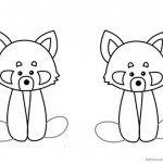 Red Panda Coloring Pages Two Red Pandas Clipart