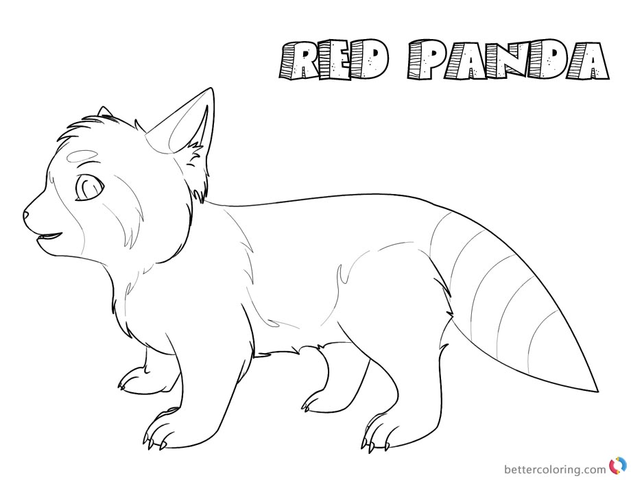 Red Panda Coloring Pages printable for free