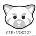 Red Panda Head Coloring Pages