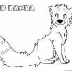 Red Panda Coloring Pages Realistic Lineart