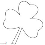 Shamrock Three Leaf Clover Coloring Pages